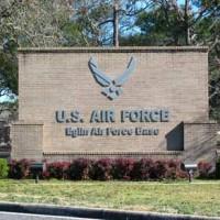 Eglin Air Force Base Sign At Front Entrance