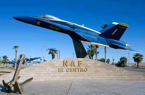 El Centro NAF Front Monument