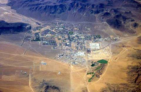 Fort Irwin Military from sky