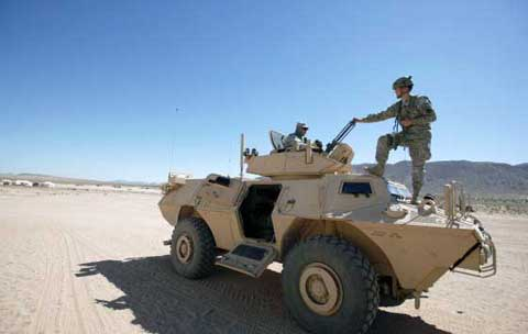 Fort Irwin Military Machinery