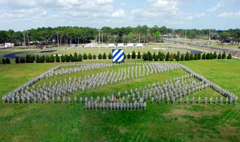 Fort Stewart Hunter Army Airfield Soldiers parade