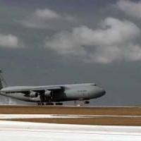 C-5 Galaxy Plane Lands on Grissom AFB