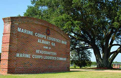 Marine Corps Logistics Base Albany Front Sign