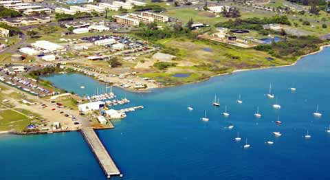 Marine Corps Base Hawaii From Coast