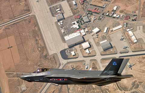 Plane fly over Mountain Home AFB