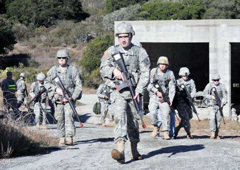 Presidio of Monterey soldier combat