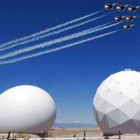 Military Planes Thunderbirds F-16 Flies over Schriever AFB