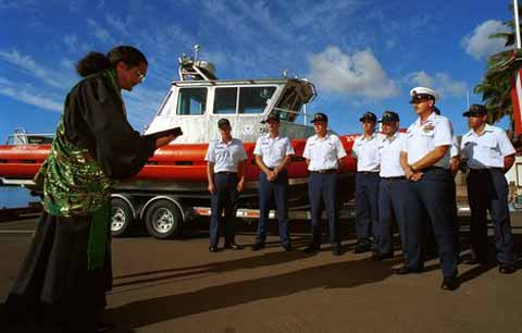 USCG Station Maui Soldiers in line