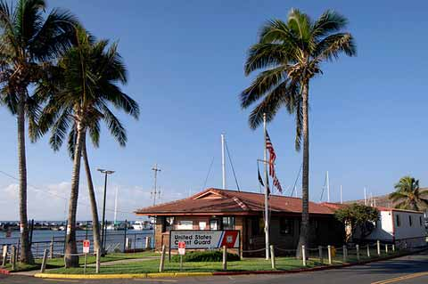 USCG Station Maui building by the coast