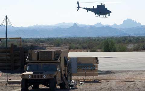 Yuma Proving Ground Helicopter landing
