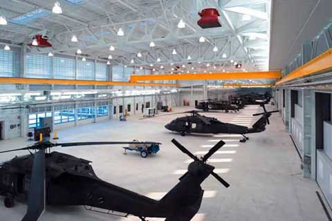 buckley air force base helicopter hangar