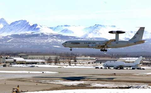 Plains landing at Elmendorf Air Force Base