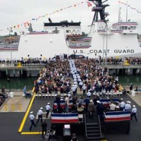 Coast guard boat in Alameda military base