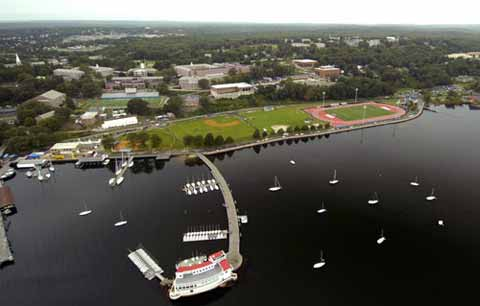 US Coast Guard Academy view from sky