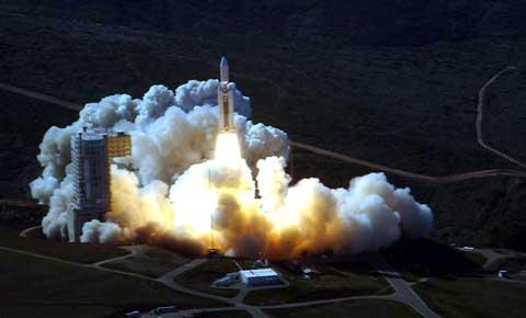 Vandenberg Air Force Base Rocket Launch at night