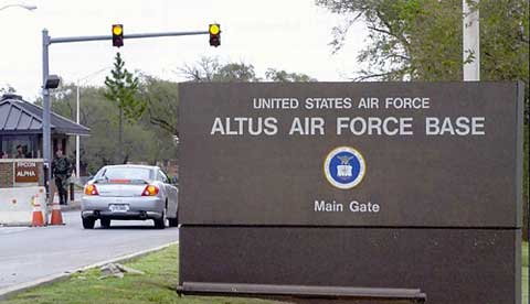 Altus AFB Main Gate Sign