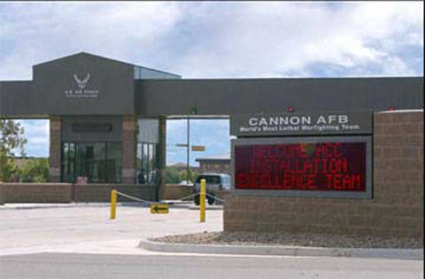 Front gate of Cannon AFB
