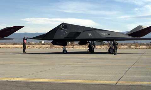 Famous military plane at Holloman Air Force Base