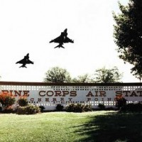Main sign of MCAS Cherry Point