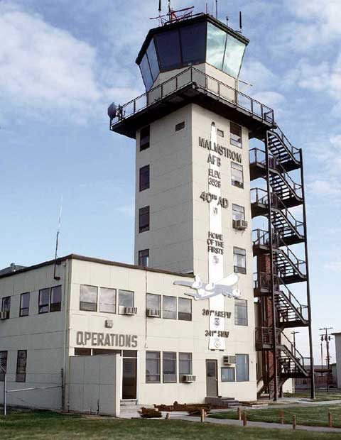 Main tower at Malmstrom Air Force Base