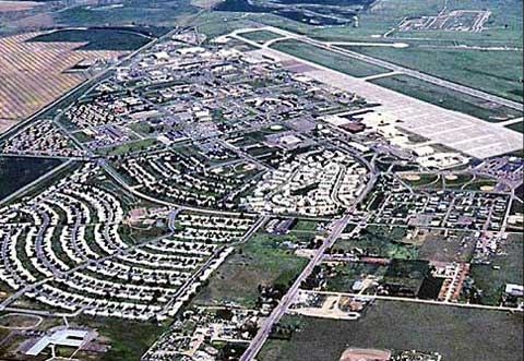 Areal View of Malmstrom Air Force Base