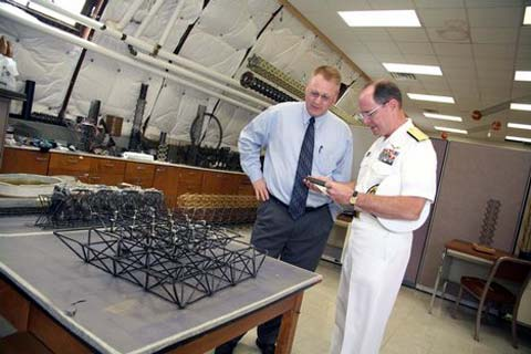 Scientists at Naval Air Warfare Center