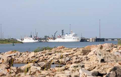 Boat at Naval Station Pascagoula