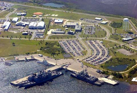 Naval Station Pascagoula Areal View