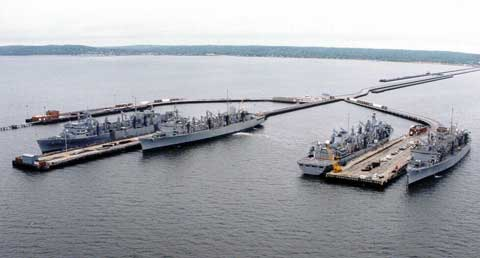 Naval Weapons Station Earle Areal View