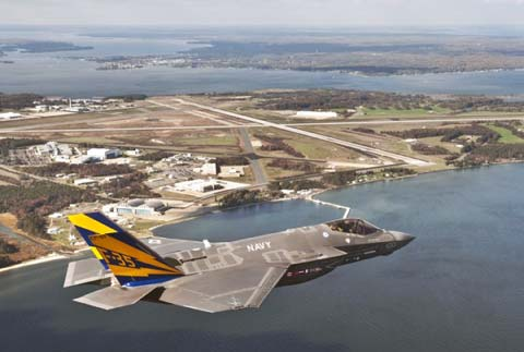 Naval Air Station Patuxent River Areal and F-35