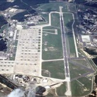 Areal view of Pope Air Force Base