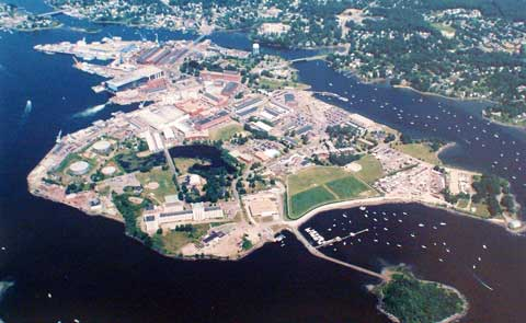 Areal View Portsmouth Naval Shipyard