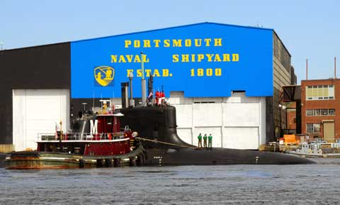 Sign of Portsmouth Naval Shipyard