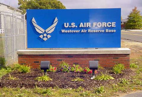 Front Sign of Westover Air Reserve Base