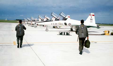 T-38 planes at Vance Air Force Base
