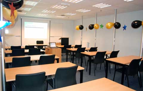 Classroom at US Army Garrison Benelux