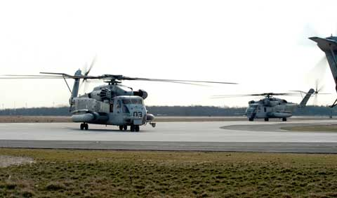 Helicopter at Naval Air Engineering Station Lakehurst