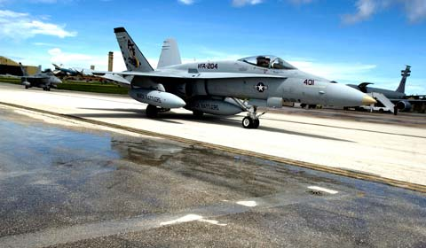 f18 at Joint Reserve Base New Orleans