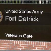 Military bases fort detrick sign