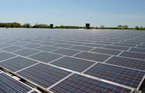 solar panel plant at Fort Dix