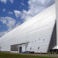 Hangar, building at naval air engineering station lakehurst base