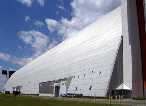 Hangar, building at naval air engineering station lakehurst base