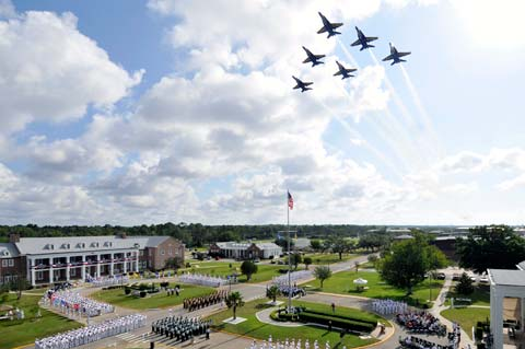 NAS Pensacola Soldiers and Planes in celebration