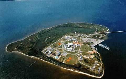 Areal View of Naval Station Pascagoula