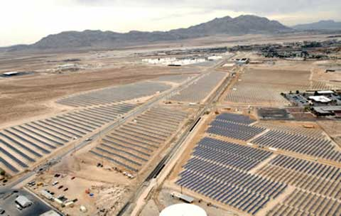 Solar panel park at Nellis Air Force Base