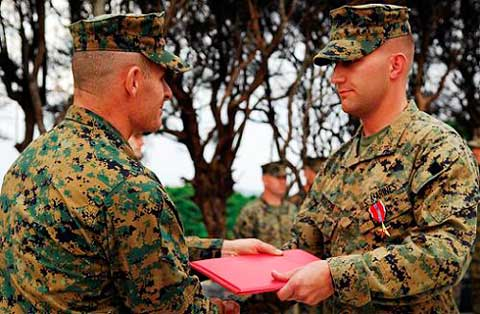 Soldier received diploma at Camp Courtney