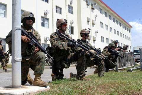 Camp Hansen Soldiers training