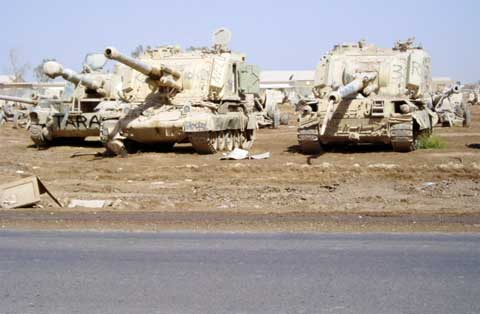 Tanks at Camp Taji