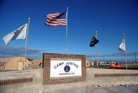Camp Justice sign