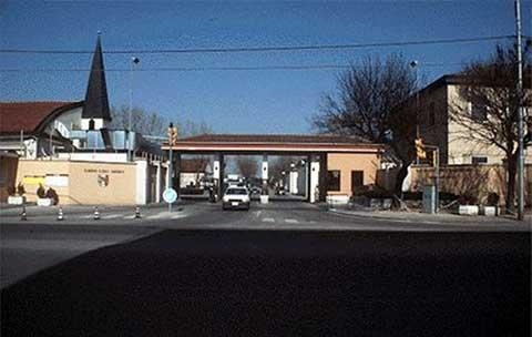 Entrance gate at Caserma Ederle
